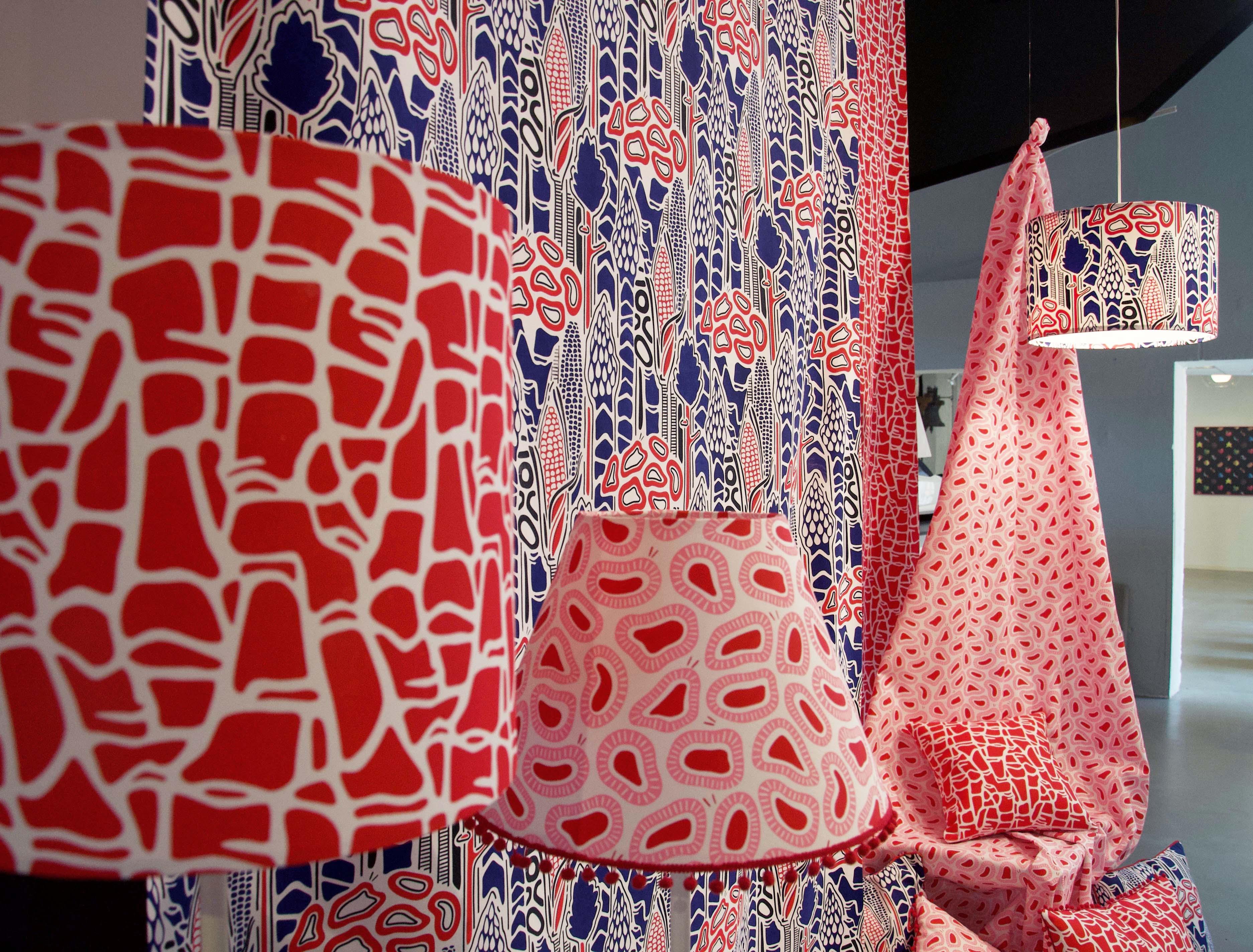 mönsterdesign och grafiska tekniker på textil